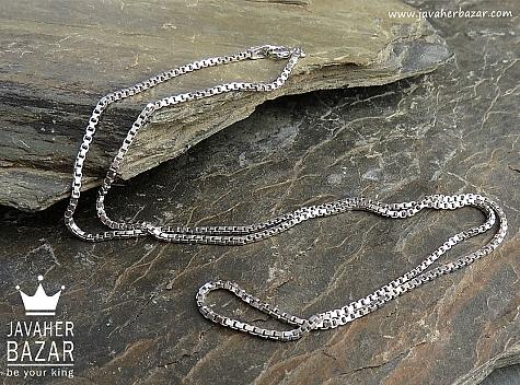 زنجیر نقره 45 سانتی - 45094