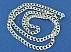 زنجیر نقره 60 سانتی - 45098 - 2