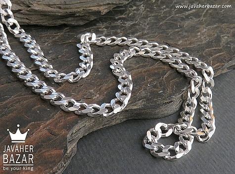 زنجیر نقره 60 سانتی - 45098