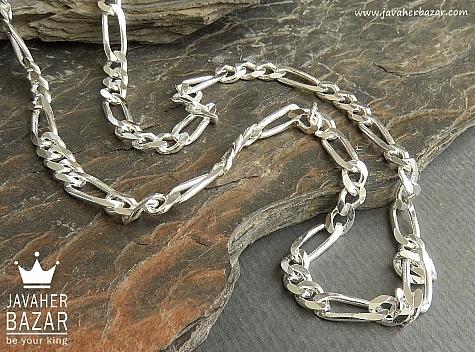 زنجیر نقره 50 سانتی - 45100