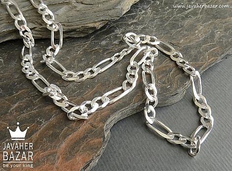 زنجیر نقره 55 سانتی - 45101