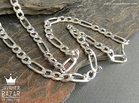 زنجیر نقره 60 سانتی - 45103
