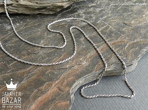 زنجیر نقره 45 سانتی - 45107