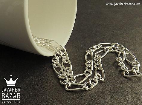 زنجیر نقره 55 سانتی - 45312