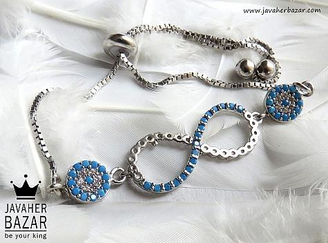 دستبند نقره طرح بی نهایت زنانه - 45449