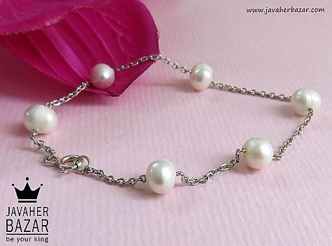 دستبند مروارید سفید زنانه