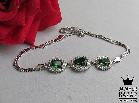 دستبند نقره طرح طراوت زنانه - 46787