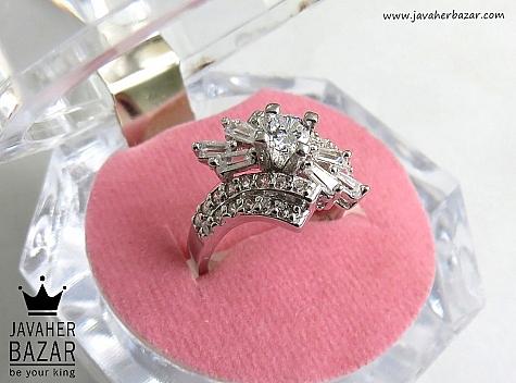 انگشتر نقره سولیتر شیک زنانه - 46811