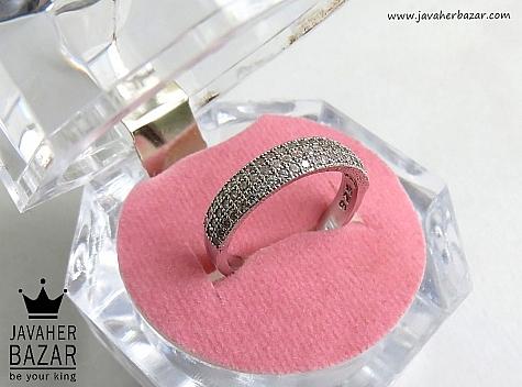 انگشتر نقره رینگ درخشان زنانه - 46812