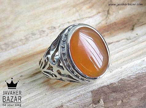 انگشتر عقیق نارنجی