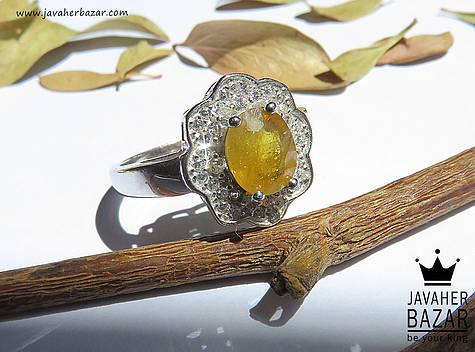 عکس انگشتر یاقوت زرد زنانه