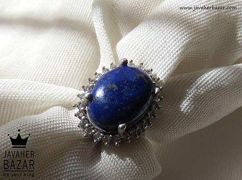 عکس انگشتر لاجورد آبی زنانه
