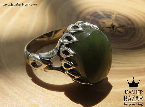 انگشتر یشم سبز مردانه