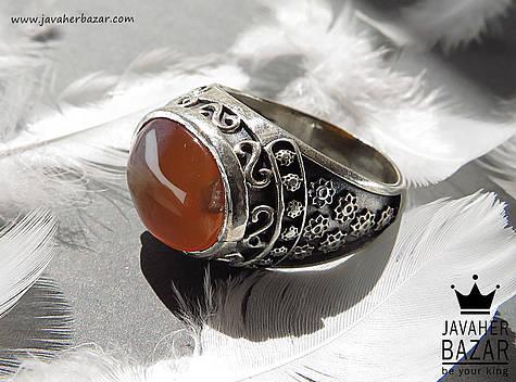 انگشتر عقیق یمن نارنجی