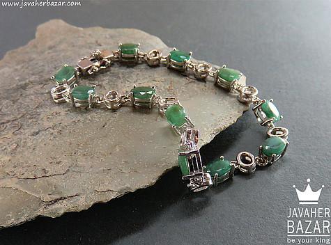 دستبند زمرد زنانه