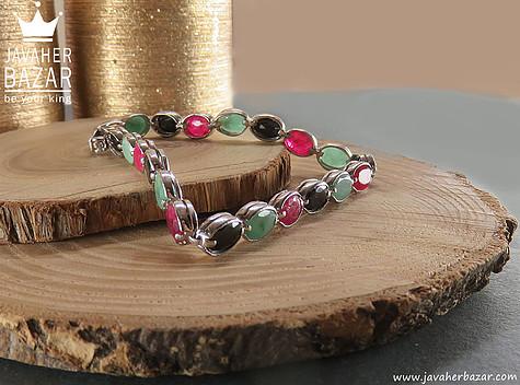 دستبند زمرد سبز زنانه