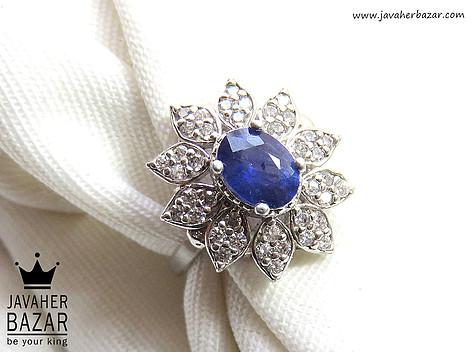 عکس انگشتر یاقوت آبی زنانه
