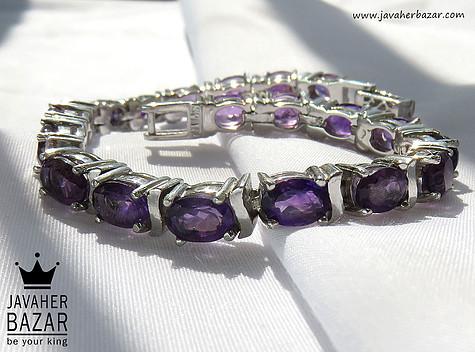 عکس دستبند آمتیست زنانه