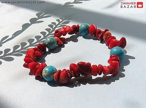 عکس دستبند مرجان قرمز