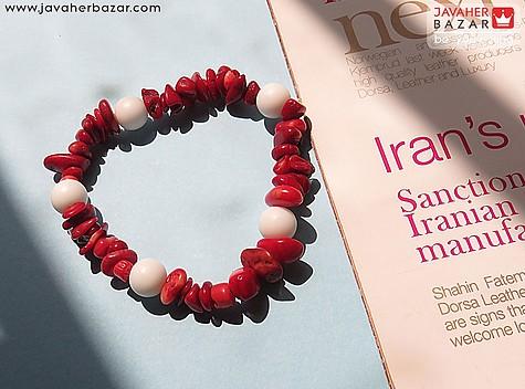 عکس دستبند مرجان قرمز زنانه