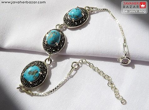 عکس دستبند فیروزه زنانه
