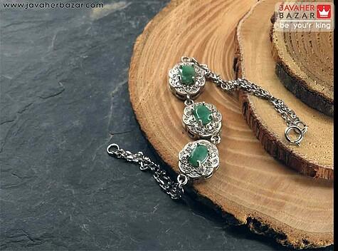 دستبند زمرد سبز