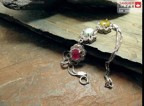 عکس دستبند یاقوت زرد