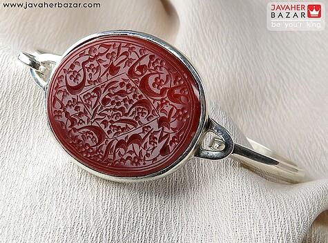 عکس دستبند نقره مردانه