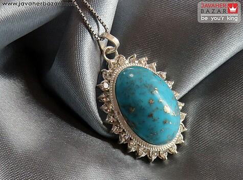 عکس مدال فیروزه کرمانی آبی زنانه