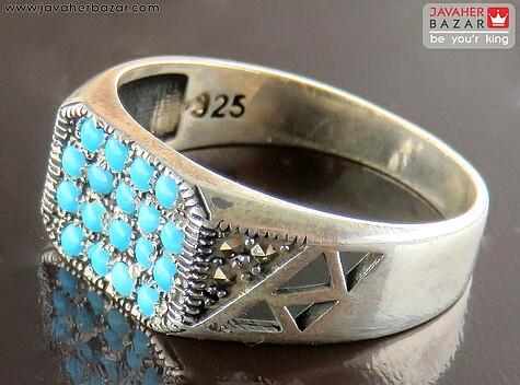 انگشتر فیروزه نیشابوری عجمی مردانه