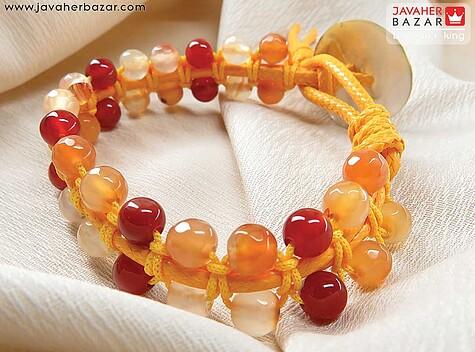 عکس دستبند عقیق نارنجی
