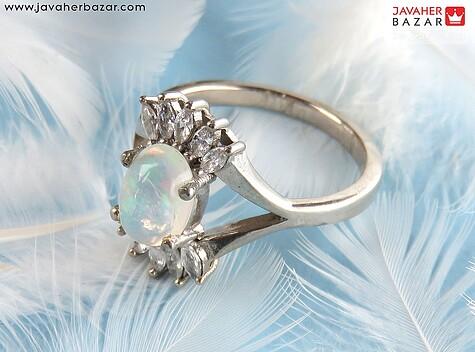 عکس انگشتر اپال آبی زنانه
