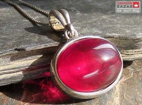 مدال یاقوت قرمز زنانه