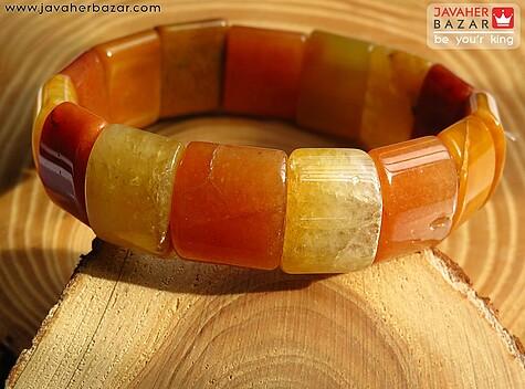 عکس دستبند آونتورین نارنجی زنانه