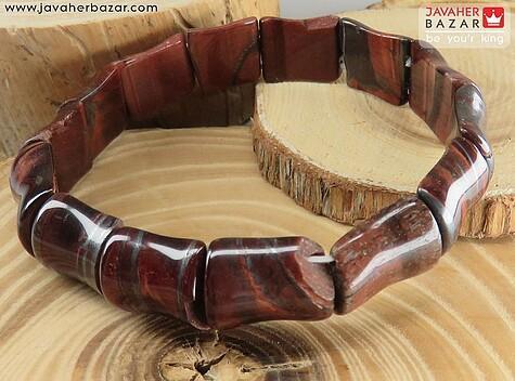عکس دستبند چشم ببر قهوهای مردانه
