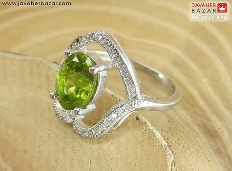 عکس انگشتر زبرجد سبز زنانه