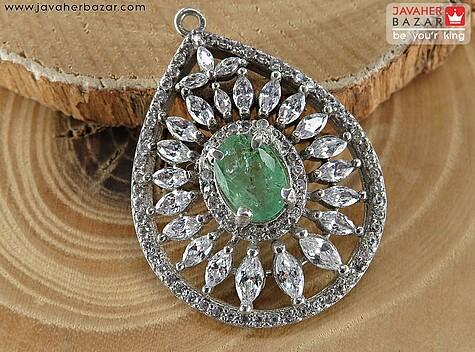 مدال زمرد سبز زنانه