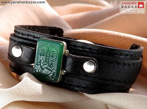 عکس دستبند سبز مردانه