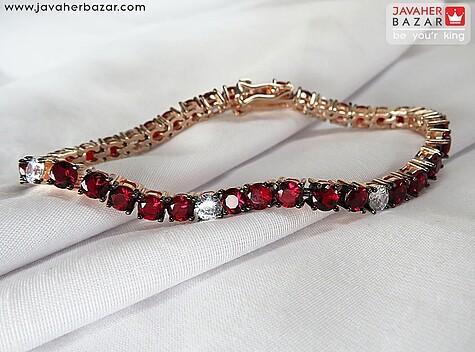 دستبند یاقوت قرمز زنانه