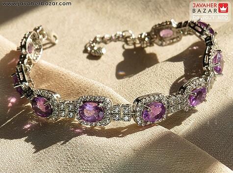 عکس دستبند آمتیست بنفش زنانه