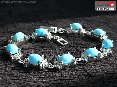 دستبند فیروزه زنانه