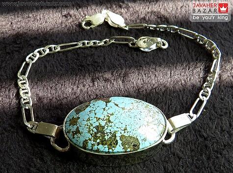عکس دستبند فیروزه نیشابوری مردانه