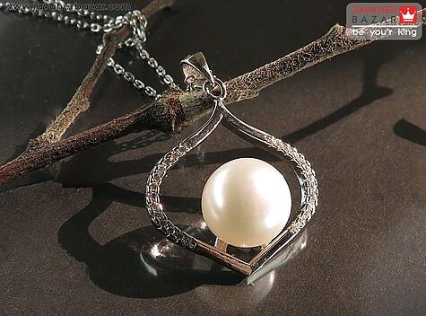 عکس مدال مروارید سفید زنانه