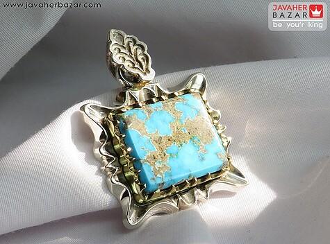 عکس مدال فیروزه نیشابوری آبی زنانه