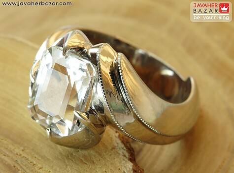 عکس انگشتر الماس سفید مردانه