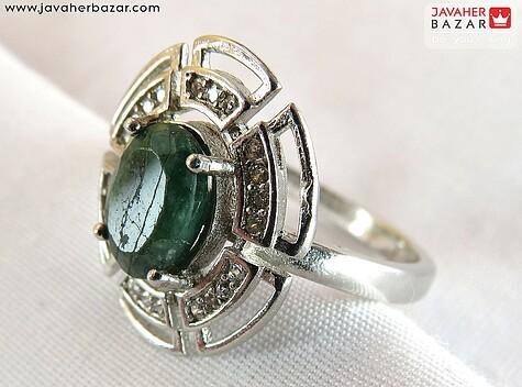 عکس انگشتر زمرد سبز زنانه