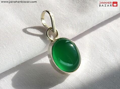 عکس مدال عقیق سبز زنانه