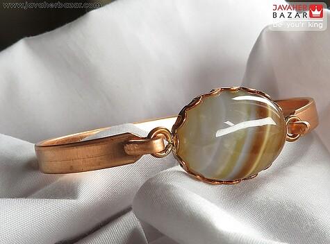 دستبند عقیق قهوهای