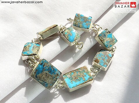 دستبند فیروزه نیشابوری آبی زنانه