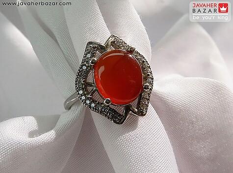 عکس انگشتر مرجان قرمز زنانه